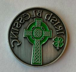 new lucky irish blessing cross pocket coin