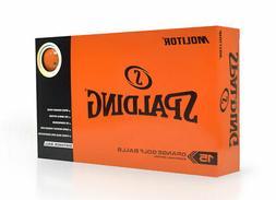 New Spalding Molitor Golf Balls Orange 15-Pack