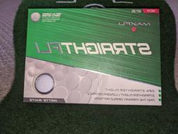 New Maxfli Straightfli Golf Balls 12 Golf Balls White FREE S