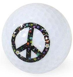 Nitro Novelty Golf Balls, Peace Sign 3