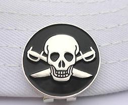 Pirate Golf Ball Marker - W/Bonus Magnetic Hat Clip