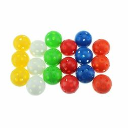 Crestgolf Plastic Airflow Golf Balls Practice Balls 12pcs/50