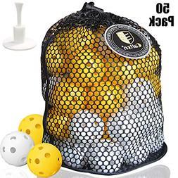 Plastic Golf Balls Practice Golf Balls Wiffle Perforated Tra