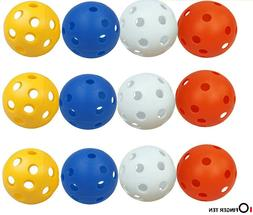 Practice Golf Balls Air Flow Ball Plastic 12 or 24 Pack Indo