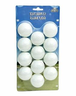 OnCourse Practice Plastic Dimpled Golf Balls - 12 Pack - Whi
