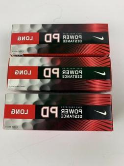 Nike Precision Power Distance Long Golf Balls PD 3 Packs 3 B