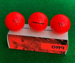 VICE PRO - NEON RED Golf Balls - NEW Sleeve  - 2020 Release