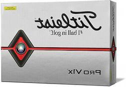 Titleist Pro V1x Golf Balls, Yellow, 12 Pack