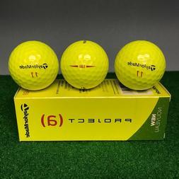 TaylorMade Project  Golf Balls - Hi-Visibility YELLOW - NEW