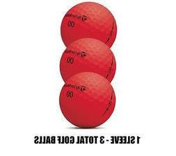 TAYLORMADE PROJECT  GOLF BALLS MATTE FINISH RED - 1 SLEEVE