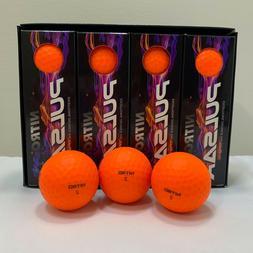 Nitro Pulsar Exceptional Distance Orange Golf Balls High Ene