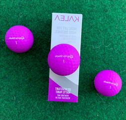 TAYLORMADE PURPLE Golf Balls - NEW 3-Ball Sleeve - KALEA -