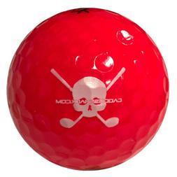 Volvik Ruby Red Crystal Jolly Rogers Skull Crossbones Golf B