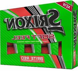Srixon Soft Feel 11 Brite Matte Red Golf Balls - 1 Dozen