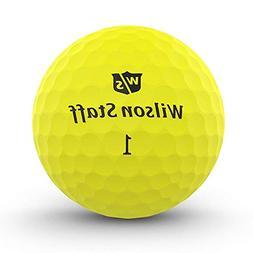Wilson Staff Duo Soft Optix Yellow Golf Balls Sleeve