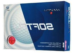 Maxfli SoftFli Golf Balls 12 Count Box Crystal Pink Red Low