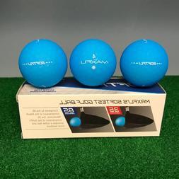 Maxfli SOFTFLI Vivid Color Golf Balls - BLUE  - NEW 12-BALL