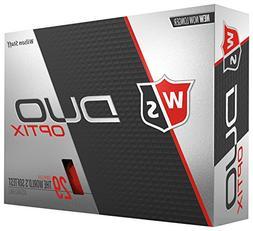 Wilson Staff Duo Soft Optix Golf Balls, Red