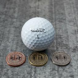 Subway Token Golf Ball Marker - Three Colors Coin Metal Came