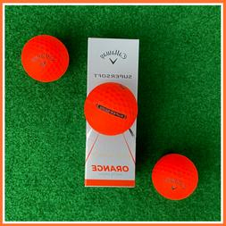 CALLAWAY Supersoft Golf Balls - ORANGE MATTE FINISH - NEW 3-