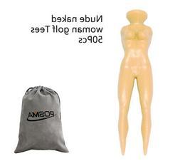 T030BX POSMA Novelty Nude Lady Golf Tees Model Beauty Ball N