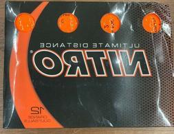 Nitro Tour Distance Golf Balls Pack of 12 Orange/yellow