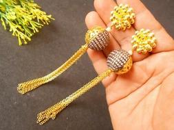Handmade Traditional Matte Gold Finish Antiuqe Ball Floral E