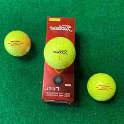 Titleist TruFeel Golf Balls  - YELLOW - NEW 3-Ball Sleeve -
