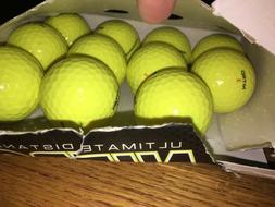 UNUSED yellow NITRO ULTIMATE DISTANCE golf BALLS - 11 BALLS