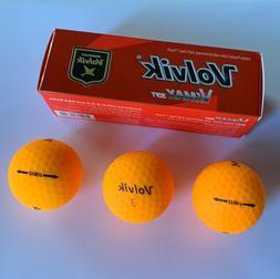 VOLVIK ViMAX SOFT Golf Balls - ORANGE - Matte Finish - NEW 3