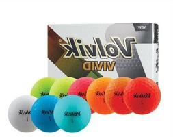 VOLVIK VIVID GOLF BALLS MATTE FINISH <<--- PICK A COLOR --->