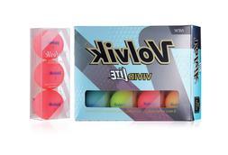 Volvik VIVID Lite Matte Finish Golf Balls 3 Ball Test Sleeve