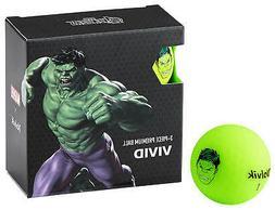 Volvik Vivid Marvel Hulk Golf Balls 4 Pack Green The Avenger