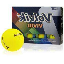 Volvik Vivid Matte Finish Premium 3-Piece Golf Balls Yellow