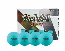 Volvik Vivid Matte Finished Colored Golf Balls