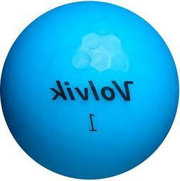 VOLVIK VIVID MATTE GOLF BALL - ONE  BALL SLEEVE - BLUE