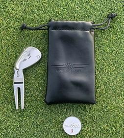 Titleist Vokey Wedge Design Silver Divot Tool Travel Bag And