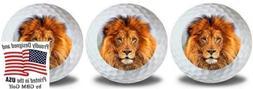 GBM Golf Wild Animal Lion Balls 3 Pack