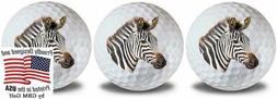 GBM Golf Wild Animal Zebra Balls 3 Pack